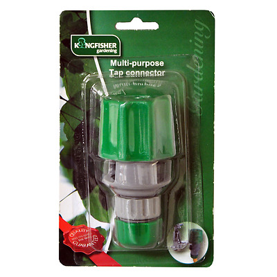 Multi Purpose Tap Connector Garden Hose To Taps Fitting Adaptor Uk