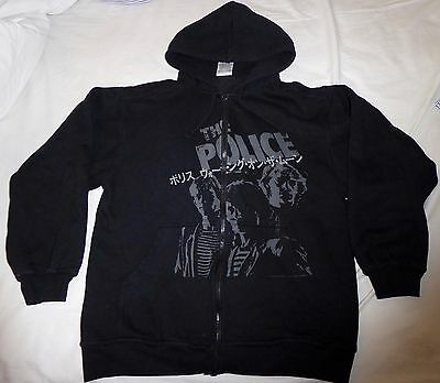 The Police, fleece hoodie, size large