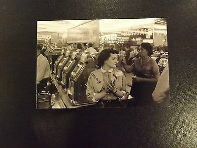 Mills High Top Slot Machine / One Armed Bandit Postcard Size Photograph