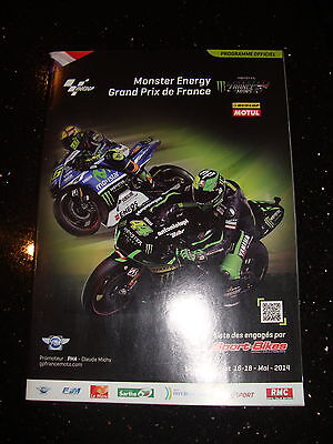 Official Moto Gp Programme - French 2014 - Signed