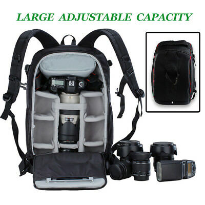 Waterproof Shockproof Accessories Camera Backpack Bag For Canon Nikon Sony DSLR