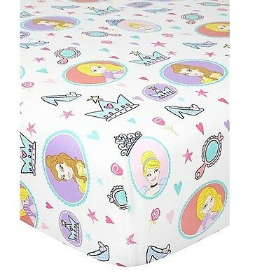Disney Princess Belle Single Fitted Bed Sheet Girl Kid Children Room Decor Cute