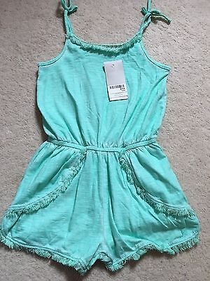 BNWT Girls Next Green Play suit - Size 7