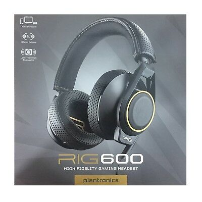 Plantronics RIG 600 High Fidelity Audio Gaming Headset with Removable Mic TS