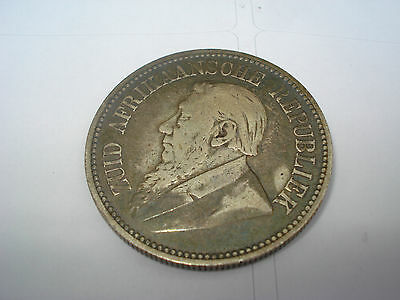 1892 South Africa 2 1/2 Shillings Silver Coin, Scarce