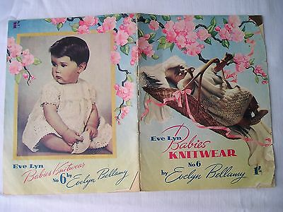 Vintage BABY KNITTING PATTERNS Evelyn Bellamy Book No 6