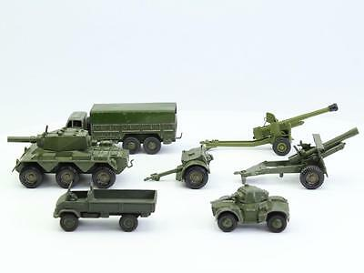 lot 7x Dinky Supertoys Crescent Toy England Military Diecast Tank Canon truck