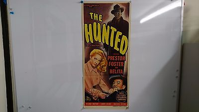 The Hunted Original Daybill Movie Film Poster Preston Foster 1948