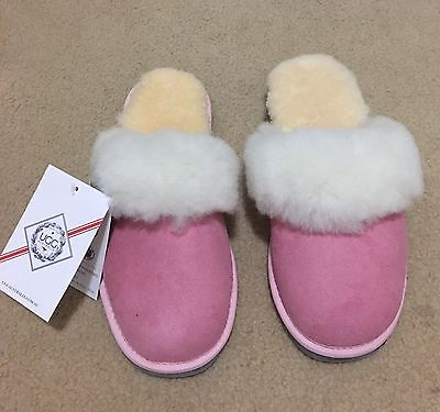 NEW Genuine Australian Ugg Sheepskin Slipper - Size Lady 7 AU , Pink Color