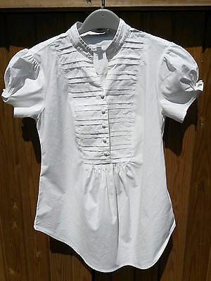 Gap Maternity Top/Blouse size XS (UK8), White Cotton