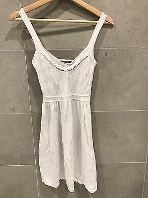 Tommy Hilfiger White Knitted Sun Dress Size Small 6 - 8 New