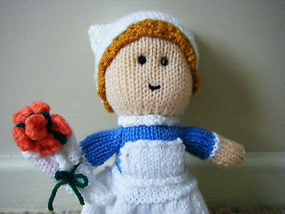 Hand knitted nurse toy ( get well gift doll )