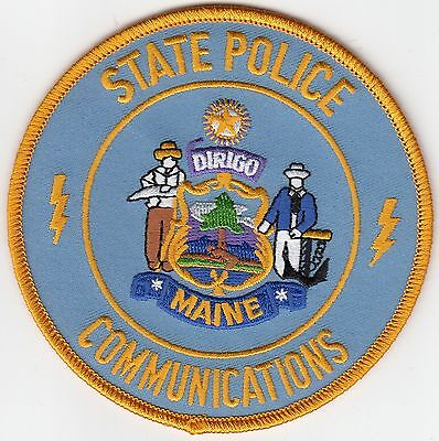 Maine State Police Communications Shoulder Patch Me