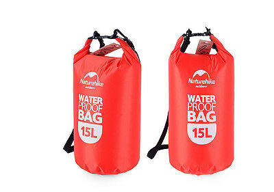 Waterproof Dry Bag Red 15Lts Bolsa Seca Roja nadar hike kayak swim senderismo