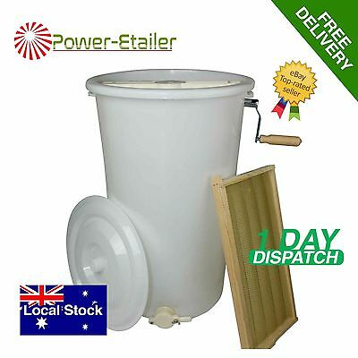 Honey Extractor Plastic Two 2 Frame Manual Spinner Beekeeping
