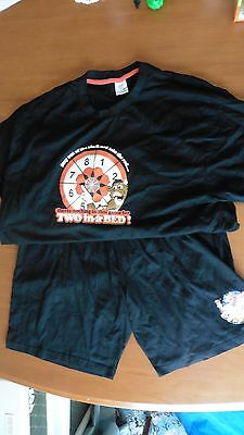 Bullseye Darts T Shirt Top And Shorts Size Large Could Be Night War