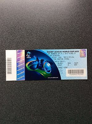 Unused 2013 Rugby League World Cup Ticket