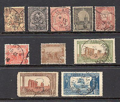 Tunisia: A Nice Selection of 10-Used 1888 to 1925 Issues (Reduced Post)