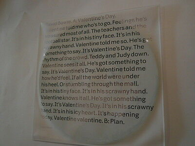 """DAVID BOWIE Valentine's Day - 7"""" Picture Disc - Columbia 88883756667 - new"""