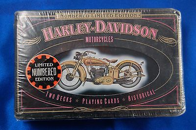 Harley Davidson Motorcycle Playing cards unopened 1997 in collectible tin B3D1h
