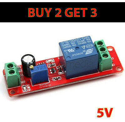 5V DC NE555 Delay Relay Shield Switch Pull Timer Adjustable Module 0-10 Seconds