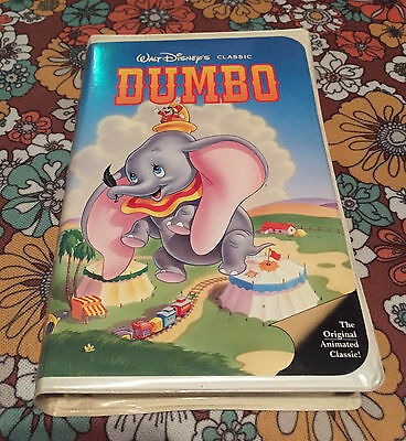 VTG Rare Walt Disney Classic Black Diamond VHS Tape Home Video Dumbo