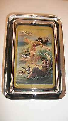 Dr Pepper Soda Pop Bottle Ladies in Water Advertising Sign GLASS PAPERWEIGHT