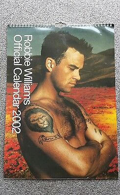 Robbie Williams Official Collectable 2002 Calendar