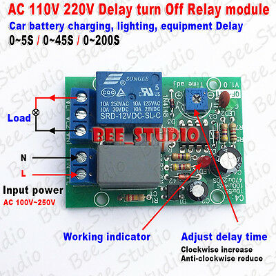 AC 110V 220V Adjustable Cycle Delay Timing Timer Time Turn ON/OFF Relay Switch