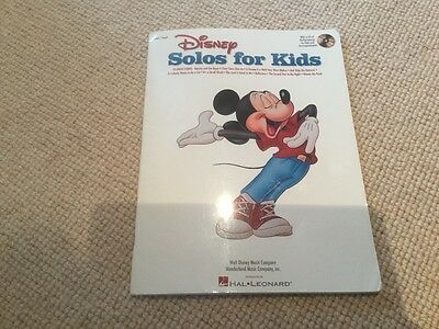 Disney solos for kids piano/ vocal music book with cd