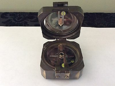 Quality Kelvin & Hughes London Dated 1917  Brass Compass - World War I