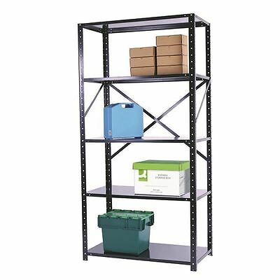 Storage Solutions Heavy Duty Bolted 5-Shelf Unit D500mm Black ZHS5BK200A10050