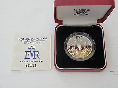 Silver Proof £5 Five Pound Coin 1993  With Coa