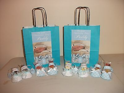 christening personalised party decor & treats, christening favours, party bags,