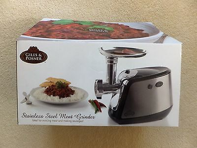 Stainless Steel Meat Grinder/mincer With Sausage Making Attachment - New In Box