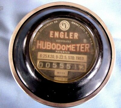 Vintage Original Hubodometer Mileage Instrument Working STEAMPUNK GAUGE LAMP OLD