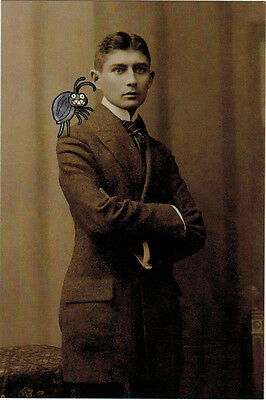 """FRANZ KAFKA'S photo with """"someone"""" on his shoulder VERY RARE Modern card"""