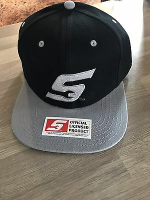 Snap On Black / Grey Baseball Cap New