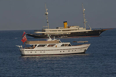 Classic Wooden Motor Yacht in Tuscany inc Tender. Charter and B&B business