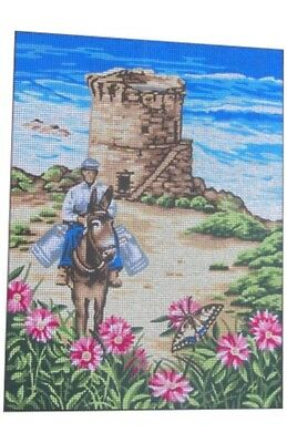 Canvas Tapestry Needlepoint Printed Gobelin Embroidery Le Muletier 153.1339