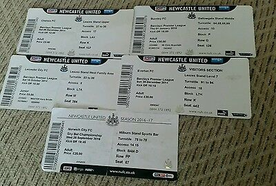 Newcastle united home tickets x 5