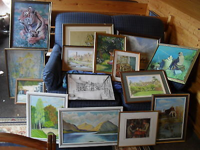 For Sale – Approx 100 selection of paintings / prints from house clearance