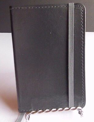 """Gray Genuine Bound Leather Journal 3-1/2"""" x 5-1/2"""" in-side pocket in back lined"""