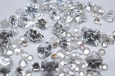 Lot of Cubic Zirconia - 101.19ct - All Sizes, Shapes