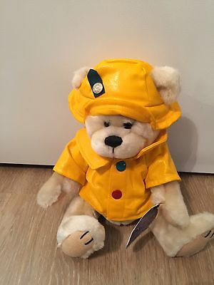 """NWT Brass Button Teddy Bear Plush HARPER-Health and Good Fortune-Yellow Coat 11"""""""