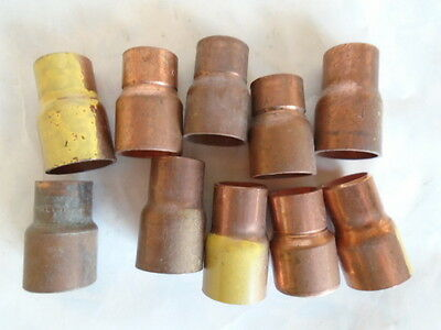 1/2 X 3/8 Inch CXC Ridgid Copper Pipe Reducing Coupling Sweat .504 X .627  10ct