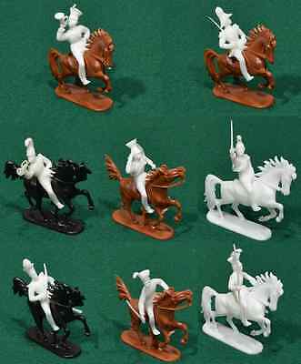 Jean Hoefler 8 Mounted Napoleonic Prussian Cavalry - 54mm plastic toy soldiers