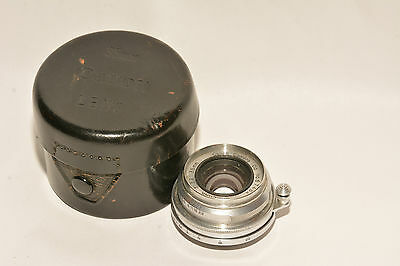 CANON LTM LEICA SCREW MOUNT SERENAR 35mm, f3.2 WIDE ANGLE  LENS WITH CASE