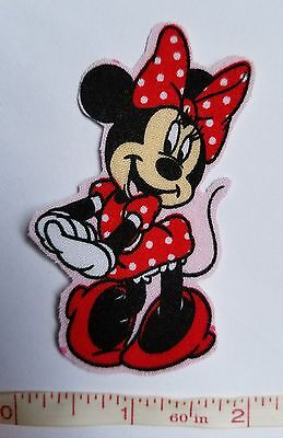 1 pc Disney Minnie Mouse Fabric Applique Iron On
