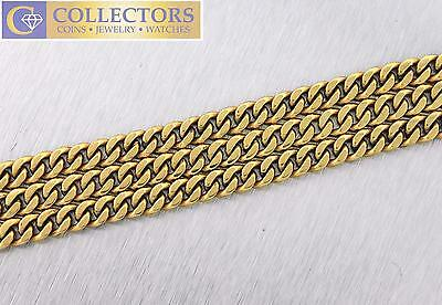 """Men's 14K Yellow Gold 20"""" Curb Cuban Link Chain Necklace 57.7gr"""